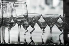 Schwarzweiss-Gläser Lizenzfreie Stockbilder