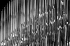 Schwarzweiss-Glasrohre Lizenzfreies Stockfoto