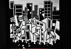 Schwarzweiss-Graffiti stockfotos