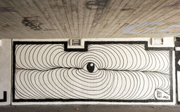 Schwarzweiss-Graffiti Stockfoto