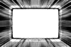 Schwarzweiss-Grunge Feld Lizenzfreies Stockbild