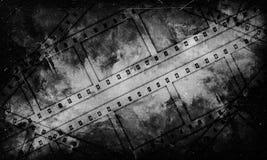 Schwarzweiss-Gutshofhintergrund 35 Millimeter-Film Stockfotos
