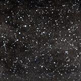Schwarzweiss-Hand gezeichneter nächtlicher Himmel Stockfotografie