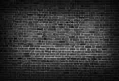 Schwarzweiss-Hintergrund der alten Weinlesebacksteinmauer Lizenzfreies Stockbild