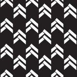 Schwarzweiss-Hintergrund des nahtlosen gebürtigen Pfeilmusters Stockfotografie