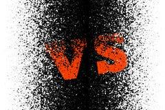Schwarzweiss-Hintergrund mit modernen abstrakten roten Buchstaben Das Symbol des Wettbewerbs Vektorschablone für Ihr Design lizenzfreie abbildung