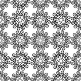 Schwarzweiss-Hintergrund mit nahtlosem Muster Lizenzfreie Stockfotografie