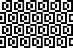 Schwarzweiss-Hintergrund mit Quadraten Stockfotos