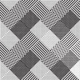 Schwarzweiss-Hintergrund, Stoffvektormuster Lizenzfreie Stockfotografie