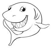 Glücklicher Karikaturhaifisch Stockfoto