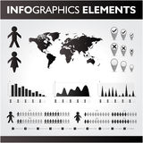 Schwarzweiss--infographics Satz. Lizenzfreies Stockbild
