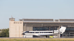 Schwarzweiss-Jet GVI G650 Stockfotos