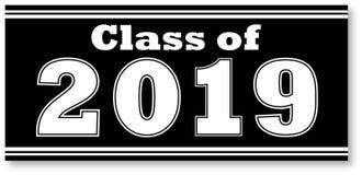 Schwarzweiss-Klasse von Fahne 2019 Stockbilder