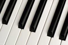 Schwarzweiss-Klavierschlüssel Stockfotos