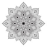 Schwarzweiss-Kreismuster oder Mandala Stockfoto