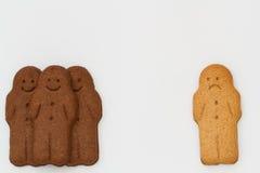 Schwarzweiss-Lebkuchen-Männer Stockfoto