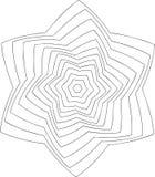 Schwarzweiss-on-line-Kunst Geometrische runde Verzierung Lizenzfreie Stockfotografie