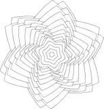 Schwarzweiss-on-line-Kunst Geometrische runde Verzierung Stockfotos