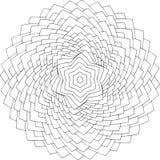 Schwarzweiss-on-line-Kunst Geometrische runde Verzierung Stockfoto