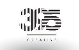 395 Schwarzweiss-Linien Zahl Logo Design Lizenzfreies Stockfoto