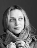 Schwarzweiss-Mädchen Stockfotografie