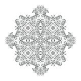 Schwarzweiss-Mandala Erwachsenes Malbuchseitendesign vektor abbildung