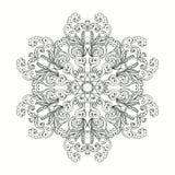 Schwarzweiss-Mandala Erwachsenes Malbuchseitendesign lizenzfreie abbildung