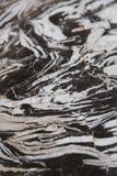 Schwarzweiss-Marmor Stockbild