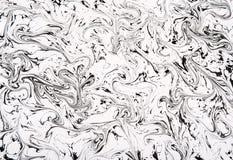 Schwarzweiss-Marmor kopierte Zusammenfassung Lizenzfreie Stockbilder