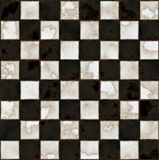 Schwarzweiss-Marmorfußboden Stockbild