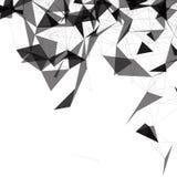 Schwarzweiss--Mesh Vector Background | Design EPS10 Stockfoto