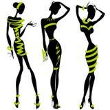 Schwarzweiss-Modeschattenbild Stockfoto