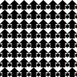 Schwarzweiss-Mosaik mit Sternen und Pfeilen Stockbilder