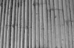 Schwarzweiss-Muster der Bambuslatte Stockfotografie