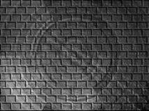 Schwarzweiss-Muster der Ziegelsteine Stockfotografie