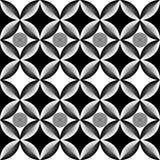 Schwarzweiss-Muster des abstrakten Kreises der OPkunst vektor abbildung