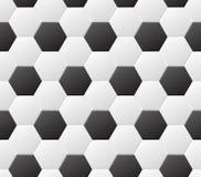 Schwarzweiss-Muster des nahtlosen Fußballs Vektorsporthintergrund Lizenzfreies Stockfoto