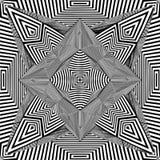 Schwarzweiss-Muster-Vektor Lizenzfreie Stockfotografie