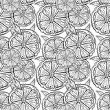 Schwarzweiss-Muster von orange Scheiben stock abbildung