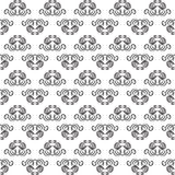 Schwarzweiss-nahtloses mit Blumenmuster - Vektorillustration Stockbild