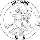 Schwarzweiss-Nichtraucher singen mit Gorilla Lizenzfreie Stockfotos