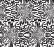 Schwarzweiss-OPart design vector seamless pattern-Hintergrund Lizenzfreie Stockfotografie