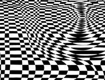Schwarzweiss-OPkunst Checkered Lizenzfreies Stockfoto