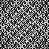 Schwarzweiss pattren geometrisches Muster der nahtlosen Welle Diagonale zeichnet die Dekoration, schön stock abbildung