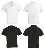 Schwarzweiss--Polo Shirt Design Template Stockfotografie