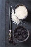 Schwarzweiss-Reis Stockfoto