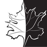 Schwarzweiss-Schablone für dekorative Karte stock abbildung