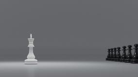 Schwarzweiss-Schach Stockfoto