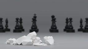 Schwarzweiss-Schach Stockfotografie