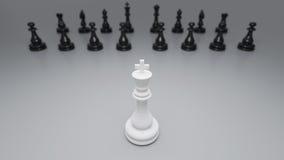 Schwarzweiss-Schach Lizenzfreies Stockbild
